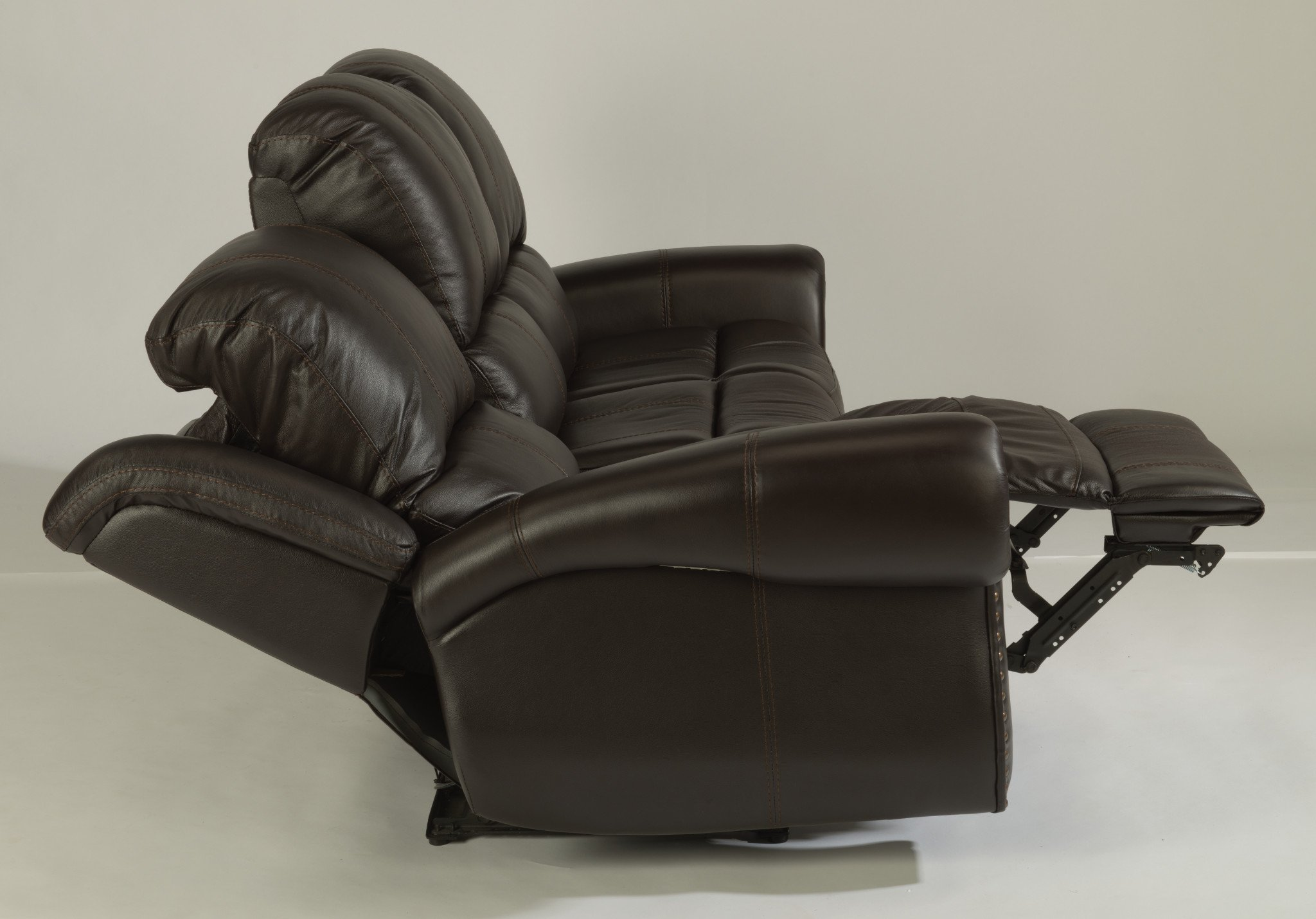 Patton Leather Power Reclining Sofa Group With Power