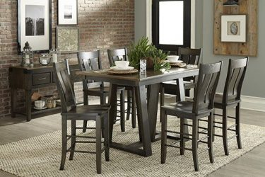 Adirondack Amish Design Dining Table.
