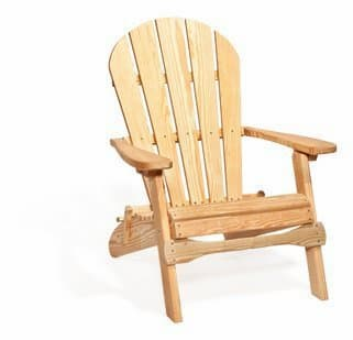 Colonial Road Woodworks Southern Yellow Pine treated Adirondack chair folding