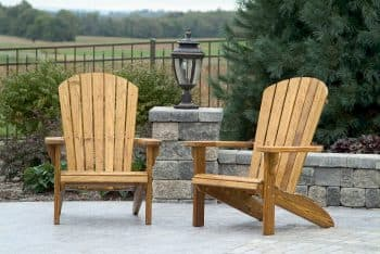 Colonial Road Woodworks Southern Yellow Pine treated Adirondack chairs