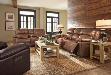 Adirondack Leather Sofa.